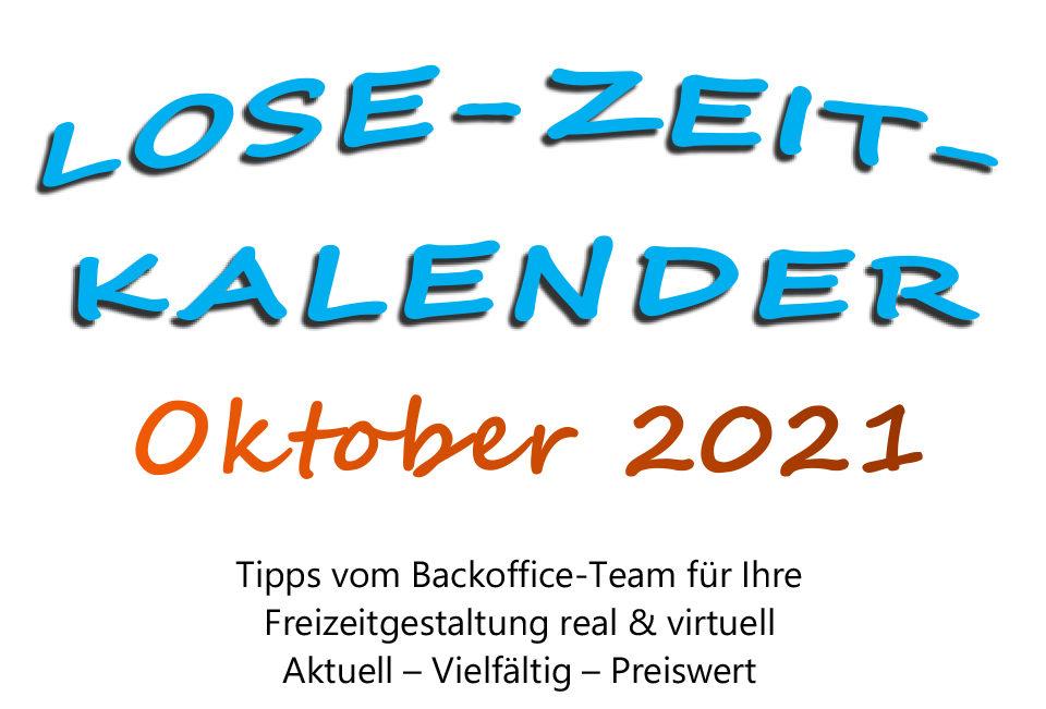 Lose Zeit Kalender Oktober 1